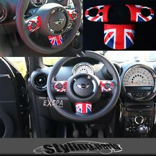 LENKRADSPANGE UNION JACK COLOR EINSATZ passt f MINI ONE COOPER 55 56 57 58 59 60