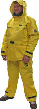 Heavy-Duty Rain Suits Small Yellow Jacket & Bib Pants, Rain Gear, Rain Wear