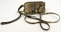 Vintage Brighton Brown Animal Print Leather Women's Wrisslet Crossbody Wallet