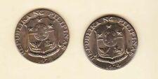 Philippines 50 centavos Marcelo Del Pilar(  1974 + 1972 ) 2 coins Toned Unc