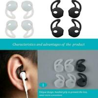 2Pairs Eartips Silicone in-ear Headset Cover with Hook for Airpods New Fast E8P7