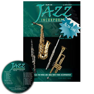 Jazz Incorporated Vol 1 for Alto Saxophone Book CD Sheet Music Kerin Bailey