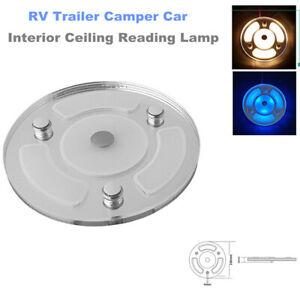 RV LED Touch Lighting Ceiling Warm White Light Car Interior Reading Lamp 12V-24V