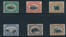 "U.S. ""PAN AMERICANS"" #294-299 COMPLETE; VF-XF USED; **VERY NICE STAMPS**"