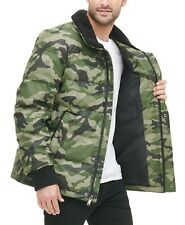 MSRP $225.00 ! DKNY Mens XXL Sherpa Trimmed Camouflage Bomber Puffer Jacket