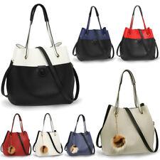 Ladies Designer Faux Leather Hobo Bag Womens Fashion Style Shoulder Handbag New