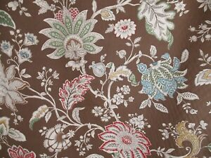 Braemore Jacobean Floral Brown Home Decor Fabric Upholstery Drapery 6.3 Yards