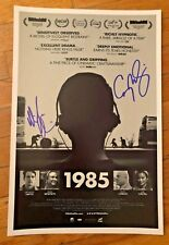 MICHAEL CHIKLIS CORY MICHAEL SMITH SIGNED 1985 PHOTO 12X18 AUTOGRAPH