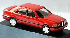 Mercedes Benz C-Klasse C220 W202 Limousine 1993-97 imperialrot red 1:87 Herpa