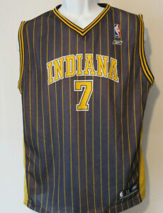 vtg INDIANA PACERS BASKETBALL JERSEY #7 JERMAINE O'NEAL Reebok youth xl nba