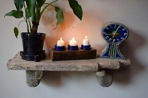 "Chunky, Character Dorset Driftwood Wall Hanging Shelves Shelf  67cm 26.5"" Wide"