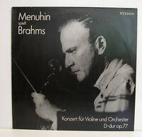 """Menuhin Spielt Brahms Konzert Pour Violon Et Orchestre D-Dur Kempe 12 """" LP"""