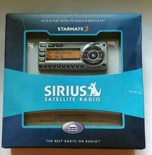 New Sirius Satellite Radio Starmate 3 Radio Receiver w/Car kit