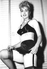 1940s-60s (4 x 6) Repro Risque Pinup RP- Bullet Bra- Garter- Silk Panties