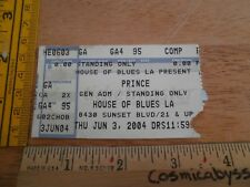 PRINCE 2004 concert ticket House of Blues Los Angeles ORIGINAL