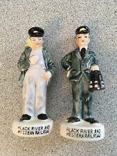 Black River and Western Railroad Conductor Engineer Salt n Pepper Shakers Japan