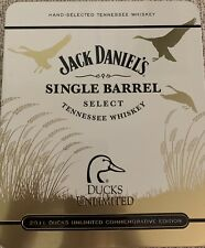 Jack Daniels Ducks Unlimited Tin, Glasses And Bottle Topper