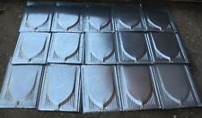 Nos Vintage Style 26 Gauge Metal Roof Shakes (lot of 15 pieces)