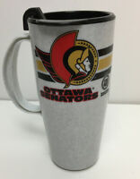 Vintage Ottawa Senators Plastic Coffee Travel Mug NHL Hockey Collectible