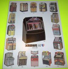Rowe AMI Original 1993 Jukebox Sales Flyer 16 Models + LaserStar America CD-100C