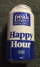 HAPPY HOUR BOTTOM OPENED CAN PEAK ORGANIC BREWING COMPANY MAINE