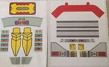 Daimos Popy Jumbo Machinder Shogun Warrior  Decal Stickers - VINYL