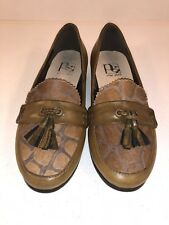 PILAR ABRIL Loafers Tassels Calf Hair Leather BROWN EU 40 US 9.5M