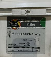 Mule-Hide Galvalume Insulation Plates - 3 in. 1,000 count