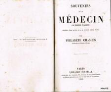 WARREN Souvenirs d'un médecin 1855 relié
