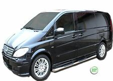 Mercedes Vito W639 SWB 2005-13 barres latérales chrome inox Side Steps