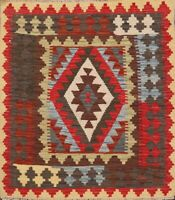 Traditional Reversible Kilim Hand-Woven Area Rug Oriental Kitchen 3'x4' Carpet
