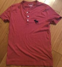 Abercrombie & Fitch Red S/S T Shirt Men's Sz XS