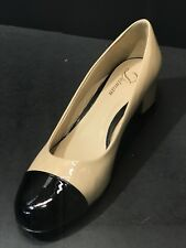 NEW DELMAN New York Nude / Black Women Patent Leather Pumps Size US 10M RTL $398