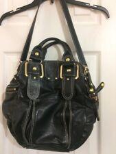 Hype Pigalle Women's Handbag Purse Gold Studs Multipocket Black Genuine Leather