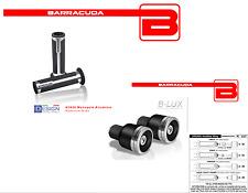 BARRACUDA Handgriffe Silber+Gegengewichte b-lux für alle Harley Motorrad