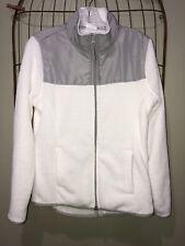 Danskin Now White Gray Jacket Top Women's M 8-10