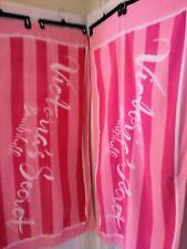 Victoria's Secret (2) Bombshell Beach Towels Pink Stripe Signature Logo