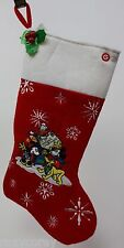 Holiday Christmas Disney Mickey Mouse Musical Stocking Plays Deck the Hall NWOT