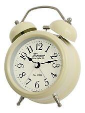 Acctim  Double Bell Alarm Clock, Cream 14622 12 MONTHS WARRANTY