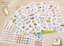 6 Sheets Cute Stickers Small Kawaii Korean Diary Scrapbook Craft Transparent