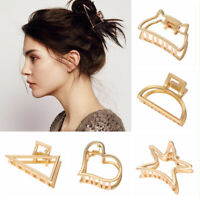 Women Hair Crab Clip Hollow Hair Clips Geometric Hair Claw Hair Holder Claw