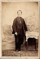 CDV photo Feiner Herr - 1860er