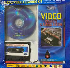 Audio/Video Cleaning Kit Power King CD Kassette VHS Reinigungs Set Reinigung