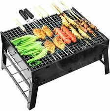 BBQ Charcoal Grill, Folding Portable Lightweight Barbecue Grill Tools
