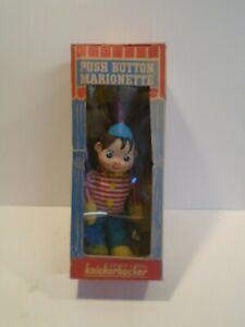 Knickerbocker Pinocchio Push Button Marionette in Original Box - Vintage 1960s