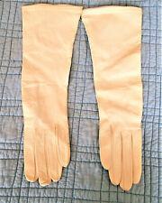 Vintage Trefousse White Kid Gloves Made in France 7 3/4 Unused 14 in. Long