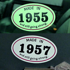 MADE IN 1950s *1957* Classic Car Vintage Bike Helmet STICKER All Years Available