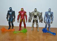 """MARVEL UNIVERSE IRON MAN 3 ACTION FIGURE LOT 4"""" TALL HASBRO 2012 MOVIE"""