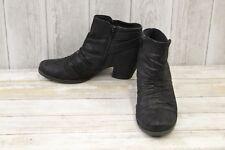 Bare Traps Reinella Ankle Boots, Women's Size 8.5 M,  Black (Damaged)