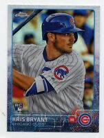 2015 Topps Chrome KRIS BRYANT Rookie Card RC REFRACTOR #112 Chicago Cubs LOGO